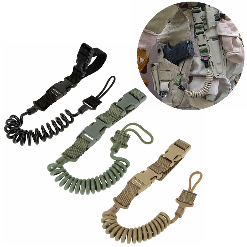 Tactical Two Point Gun Rope Spring Strap Outdoor Anti-lost Airsoft Paintball Shooting Army Military Gun Rope Hunting Accessories
