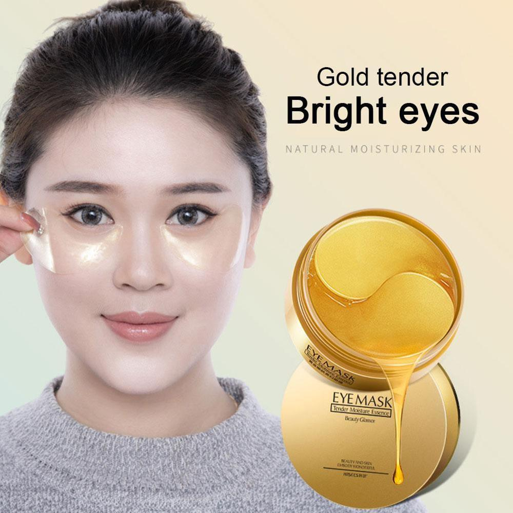 Image 4 - 60pcs Moisturizing Firming Eye Masks Collagen Crystal Smooth Eye Patches For eye Patch Dark Circles Fine Lines Removal-in Creams from Beauty & Health
