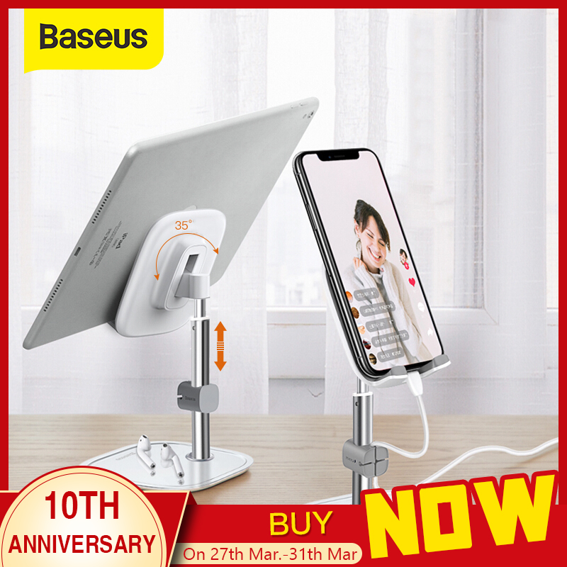 Baseus Telescopic Desktop Phone Holder For Tablet Pad Desktop Holder Stand For Cell Phone Table Holder Mobile Phone Stand Mount