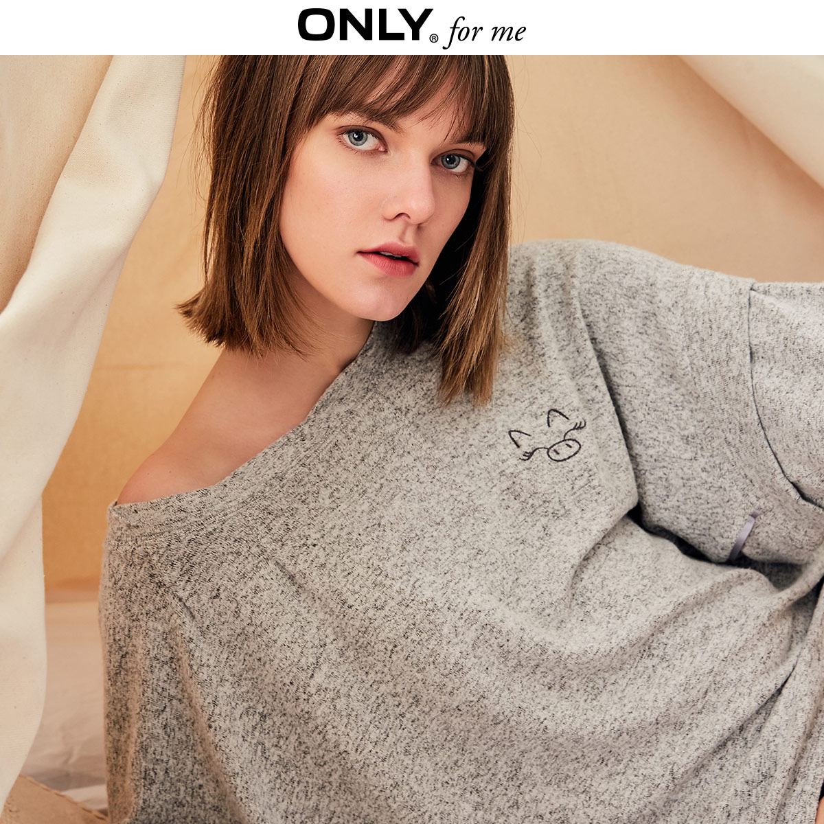 ONLY Women's Spring Loose Fit Pullover Sleepwear Sweatshirt | 11919S603