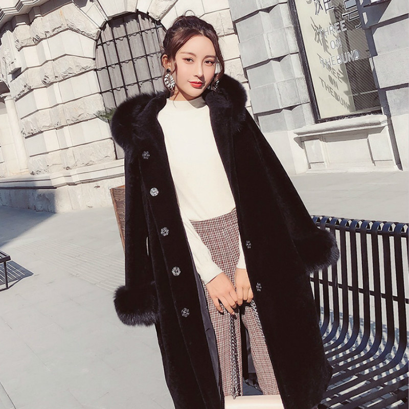 Real Fur Sheep Shearing Winter Coat Women Oversize Casual Womens Clothing Abrigos Mujer Invierno 2020 1828 YY602