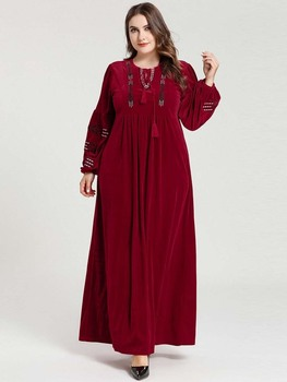 New Elegant Abaya Dubai Turkey Long Sleeve Wedding With Hijab Dress