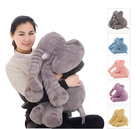 Dropshipping 40/60cm Appease Elephant Pillow Soft Sleeping Stuffed Animals Plush Toys Baby Playmate Gifts For Children