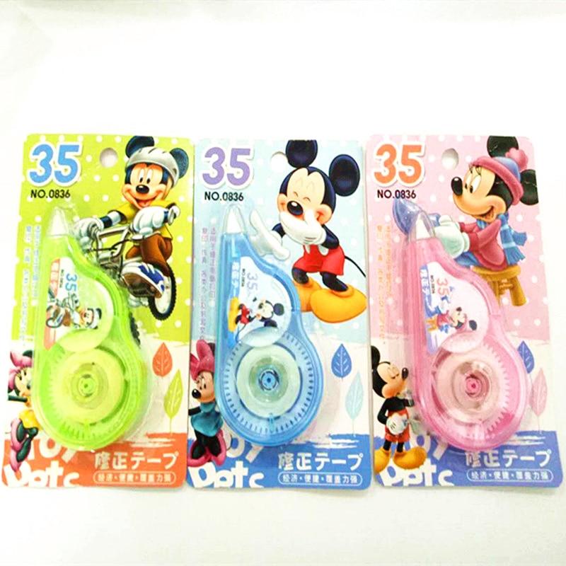 Disney Cartoon 35 M Long Student Correction Supplies Correction Tape Stationery Mickey Minnie Creative Office School Supplies