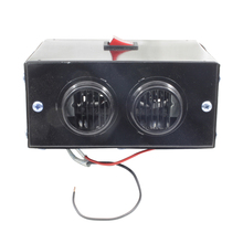 12/24V 600W Car Fan Heater Electric 2 Air Outlet Cooling For Defrost Demist Deicing Instant Heating Glass Defroster