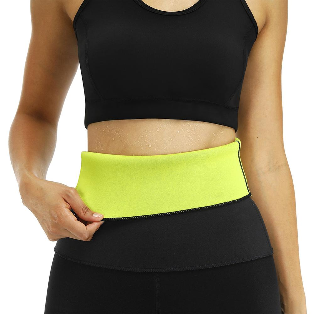 Hot Shapers Neoprene Thermal Slimming Waist Belt Shaper Sauna Fitness Slimming Workout Pants Women Body Shaper Sports Vest 40FP