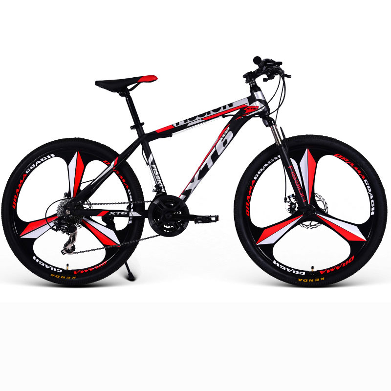 24/26 Inch Mountain Bike Speed Double Shock Off road Racing Student Adult Bicycle Men And Women Three knife wheel|Bicycle| |  - title=