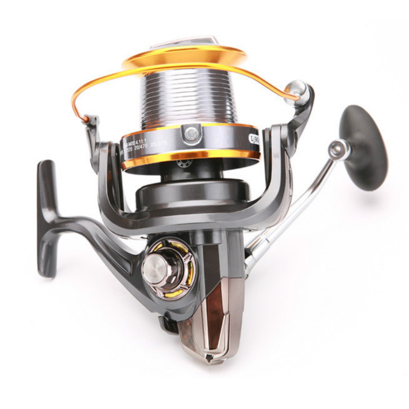 Round Squid Wheel Fishing Reel 5.2:1 Rotating Speed Reservoir Pond Pre-Loading Spinning Wheel LJ3000-9000 Type Fake Bait image