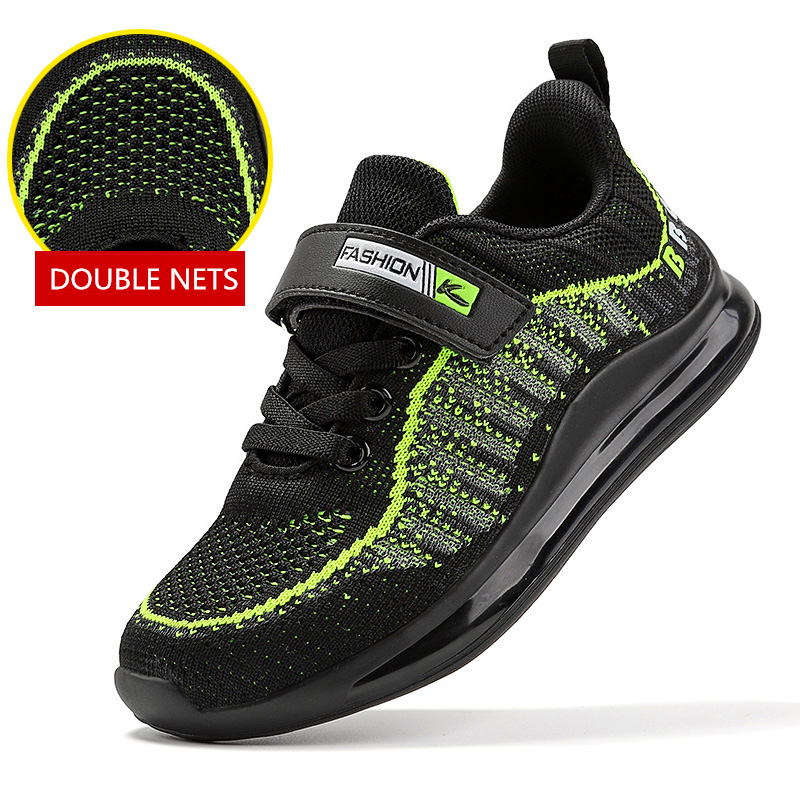 Kids Knitted Lightweight Breathable Sneakers Casual Sport Shoes for Boys Girls