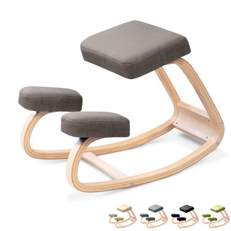 Ergonomic Corrective Kneeling Chair Stool Home Office Solid Wood Kneeling Chair Computer Posture Chair Rocking Chair