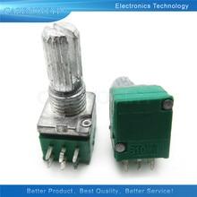 5 шт. / Лот RK097G 5K 10K 20K 50K 100K 500K B5K с переключателем аудио 6pin вал 15 мм усилитель уплотнения потенциометр в наличии