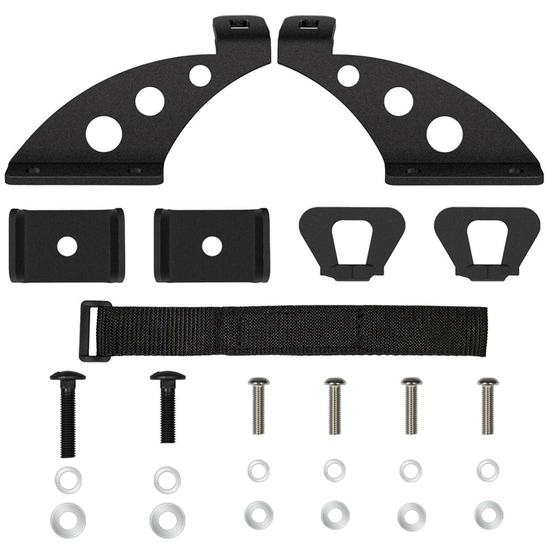 Lift Jack Mount Hood Door Hinge Bracket Jack Bracket Kit For Jeep Wrangler JK JKU 2007-19