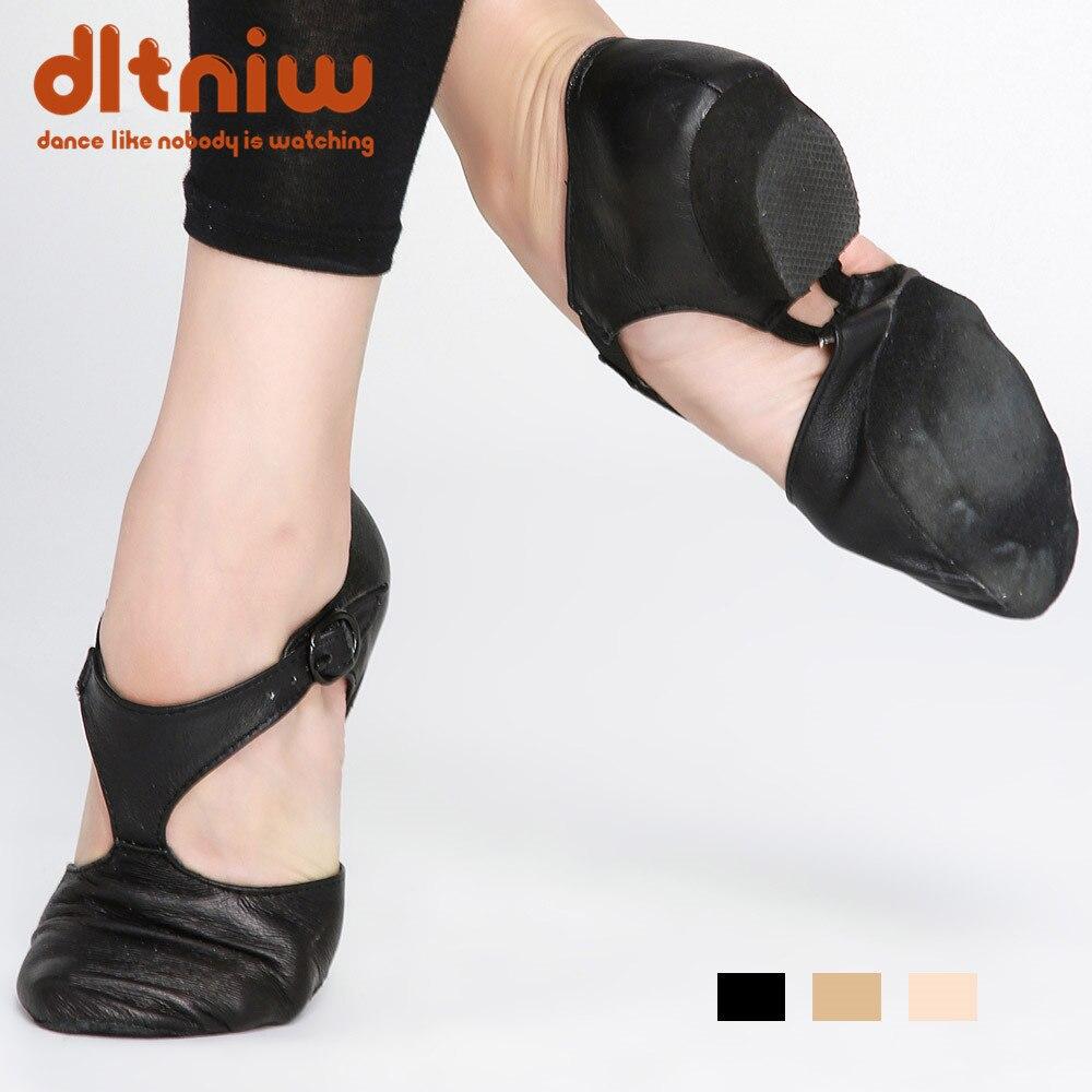Black Tan Pink Wimen's Genuine Leather Shoe For Child Adult Teachers Professional Sandals China Women's Jazz Dance Sandal Shoes