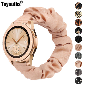 Toyouths Printed Fabric Band for Samsung Galaxy Watch 42mm Active 40mm Women Leisure Elastic Strap 20mm for Active 2 40mm 44mm