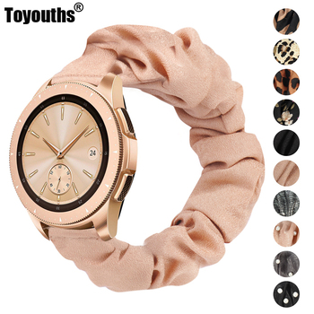 Toyouths Printed Fabric Band for Samsung Galaxy Watch 42mm Active 40mm Women Leisure Elastic Strap 20mm 2 44mm - discount item  20% OFF Watches Accessories