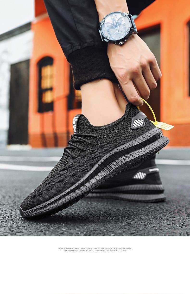 2020 Air Mesh Men Lightweight Outdoor Sport Casual Shoes Couples Breathable Soft Athietics Jogging Sport Sneakers Vulcanize Shoe