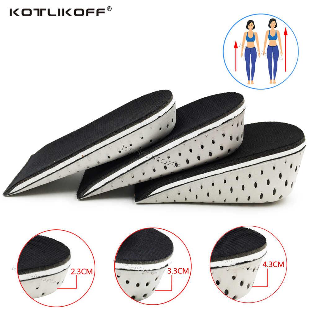 KOTLIKOFF ความสูงเพิ่ม Insoles Breathable พื้นรองเท้าเพิ่มความสูง Heel ใส่รองเท้า Pad เบาะ Unisex 2.3 ซม.-4.3 ซม. UP