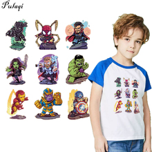 Cartoon Superman Patches Iron on Transfer for Clothing Marvel Thermal Stickers Heat Washable patch Custom wholesale H