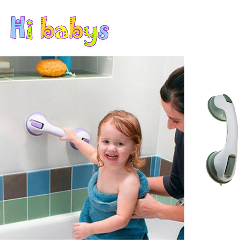Baby Bathroom Handrail Tub Super Grip Suction Handle Shower kids Elderly Antiskidding Safety Helping Handle Bathroom Accessories