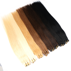 Image 3 - Doreen  Machine Made Remy Tape In Human Hair Extensions 16 to 22 Inch 20 Pcs 50g/Pack Silky Straight PU Seamless Skin Weft