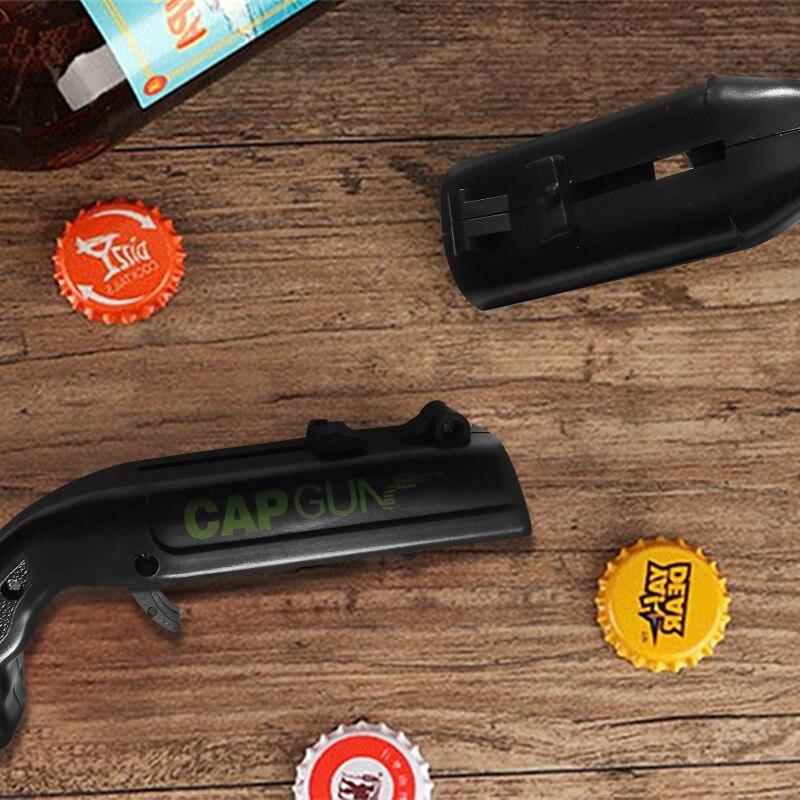 Image 5 - Creative Portable Beer Opener Cap Gun Bottle Opener Beer Bottles Open Capgun Drink Opening Shooter Bar Outdoor Celebration Tools-in Openers from Home & Garden