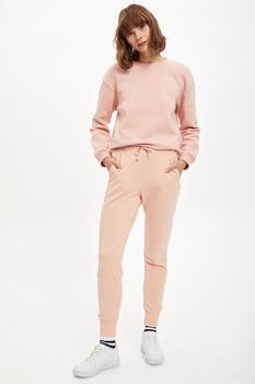 DeFacto jesienne spodnie damskie i dolne elastyczne spodnie z dzianiny Jogger dzianinowe codzienne Fashion-L5453AZ20AU tanie i dobre opinie Z OCTANU