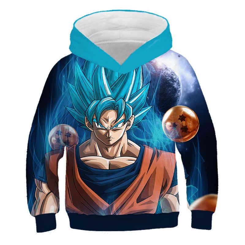 Sudadera con capucha Anime Dragon Ball Z Son Goku niños Sudadera con capucha 3D estampado sudaderas Harajuku niños niño/niña Casual Hoodies abrigo