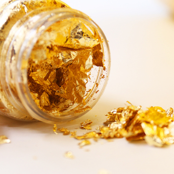 3g/бутылка Золотые листья хлопья Золотая фольга фрагменты для золочения искусство ремесла украшения для ногтей крафт бумажные кусочки золотые хлопья