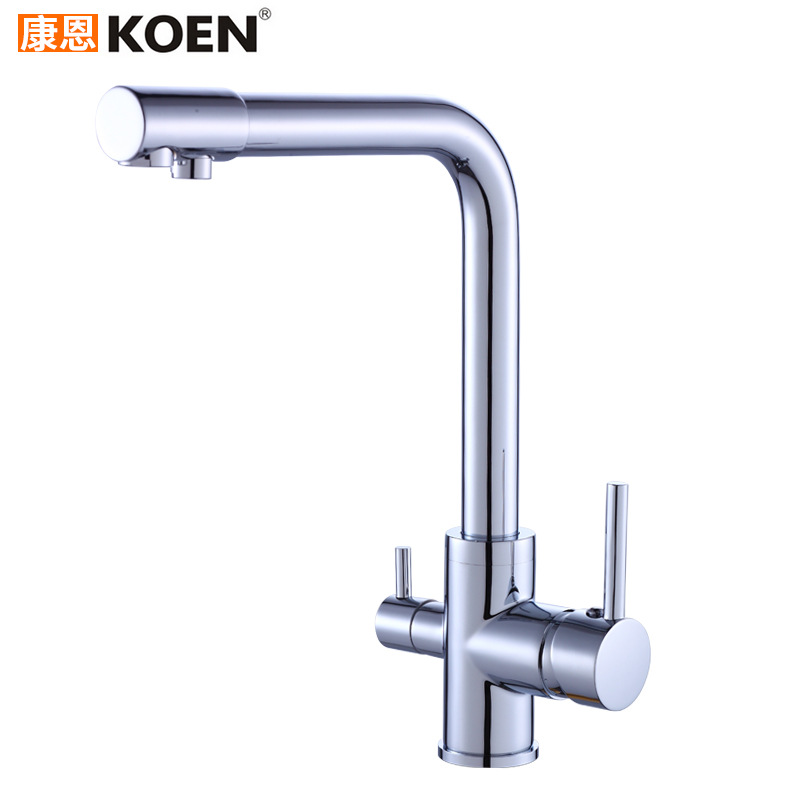 Copper Purified Water Kitchen Faucet Hot And Cold Mixing Water Single Handle Kitchen Faucet Sanitary Ware Hot Sales|  - title=