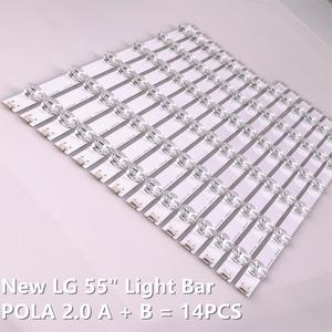 "Image 2 - 12 Lampen Led Backlight Strip Voor Lg 55LA616V 55LA6200 55LA6205 55LA6208 55LA620S Za Ua Bar Kit Televisie Led Band pola 2.0 55"""
