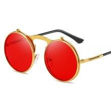 2020 модные классические мужские круглые солнцезащитные очки