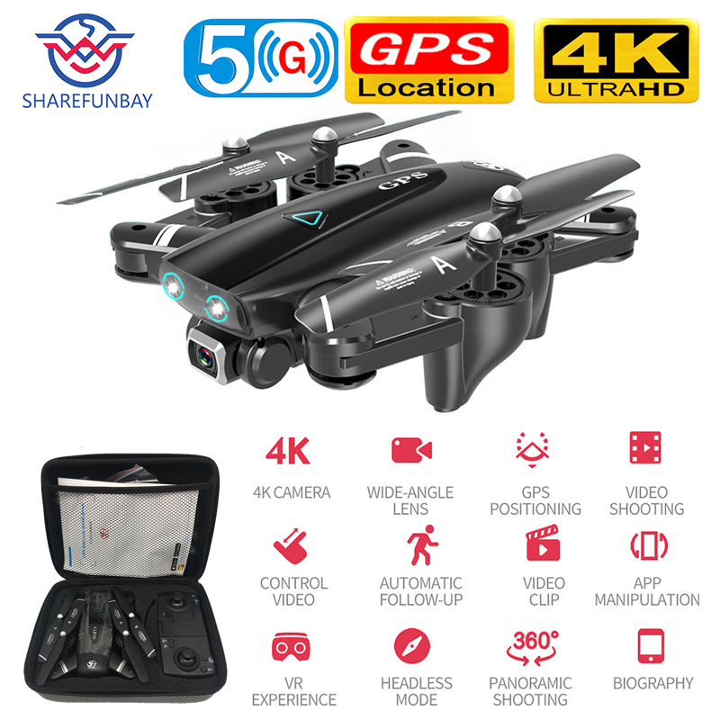 S167 Drone GPS 4K HD 1080P 5G WIFI FPV Drone Flight 20 Minutes Height To Maintain Quadcopter Control Distance 500m Drone Camera