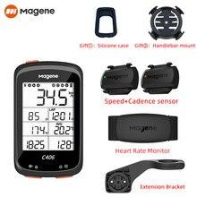 C406 contachilometri GPS senza fili per Computer da bicicletta contachilometri 2.5 pollici Sync Magene Cadence Sensor cronometro per bici da ciclismo impermeabile