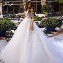 Traugel элегантное кружевное свадебное платье трапециевидной