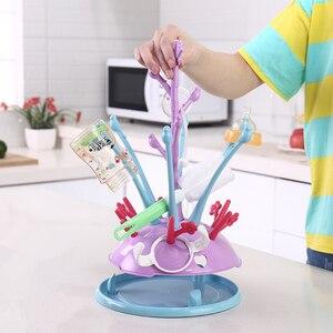 Image 1 - Baby Bottle Dryer Stand for Bottles Botellero Baby Bottle Drying Rack Nipple Storage Etendoir A Linge Infant Pacifier Dryer Rack