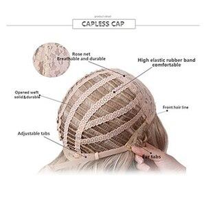 Image 4 - HAIRJOY 합성 머리 여자 라이트 금발 짧은 레이어 곱슬 가발 4 색 무료 배송