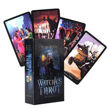 цена на Witches Tarot Cards  the Hierophant becomes the High Priest, Wheel of Fortune becomes Wheel of the Year