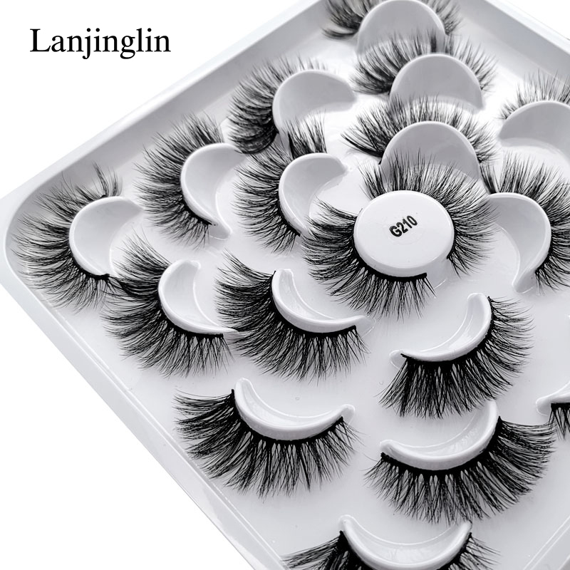 5/7/10 Pairs 3D Eyelashes Hand Made Natural Long Faux Mink Lashes High Quality False Lash Book Extensions Maquiagem Makeup