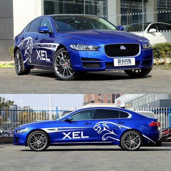 Racing stickers body appearance decoration pull flower color door For Jaguar XEL leopard sports pattern custom stickers