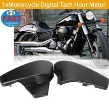 купить Free Shipping Motorcycle Side Battery Fairing Cover For Honda VLX 600 VT600C 1999-2008 Black по цене 1168.45 рублей