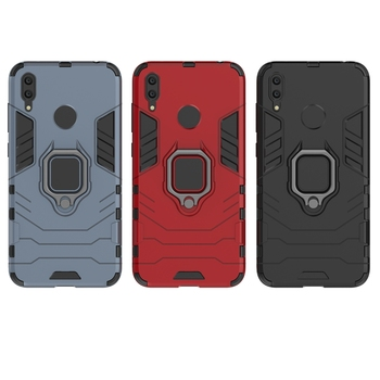 200PCS Shockproof Case For iPhone XS 11 Pro Max X 8 Plus Cover Case 3D Iron Man Ring Armor with phone Holder For Huawei Samsung