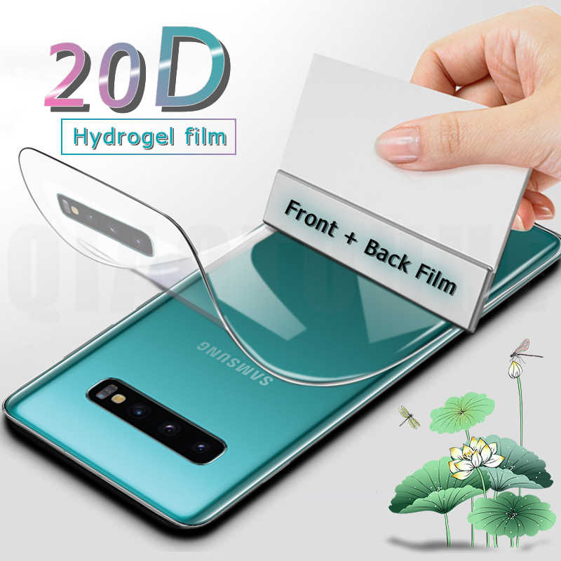 20D Voorkant Back Full Cover Hydrogel Film Voor Samsung Galaxy S9 S8 S10 Plus Screen Protector Voor Note 8 9 10 Plus S10e Niet Glas