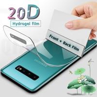 20D Front Rückseite Full Hydrogel Film Für Samsung Galaxy S9 S21 S10 S20 Plus Screen Protector Hinweis 8 9 10 Plus S10e Nicht Glas