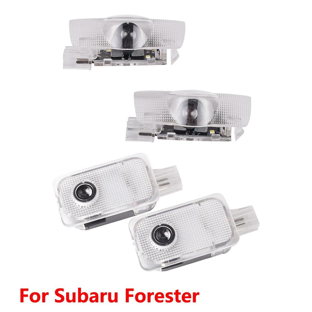 2X LED Car Door Light Projector Laser For SUBARU Forester SH SJ Sk 2008 2009 2010 2011 2012 2013 2014 2015 2016 2017 2018 2019