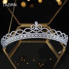 Милые королевские свадебные диадемы с фианитом ААА корона для