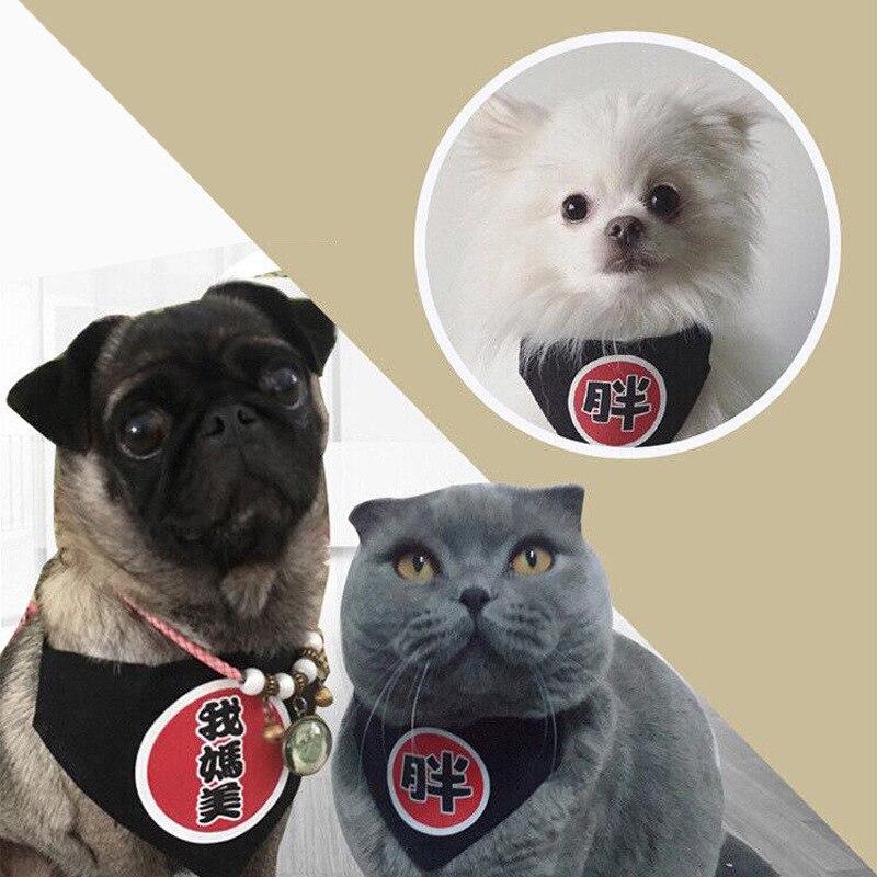 Pet's Saliva Towel Dog Cat Universal Handsome Triangular Binder Character Scarf Cute Pet Supplies Accessories New Style