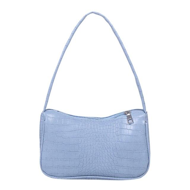 Casual PU Leather Sling Handbag Purse Women Elegant Chain  Crossbody Bag