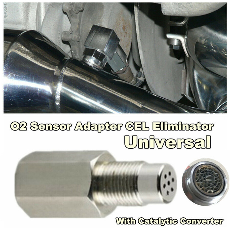 Universal Stainless Steel Oxygen Sensor Bung Adapter Extension Extender Spacer Exhaust Gas Catalyst Car Eliminator Nox Sensor