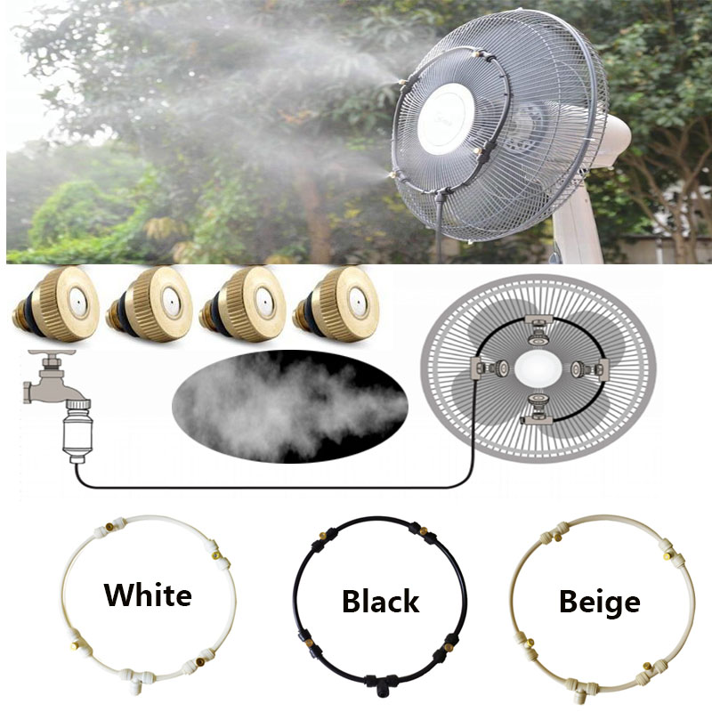 Sprayer Garden Fan-Ring Nebulizer Cooling Water-Misting Dia-400mm Home for 16inch