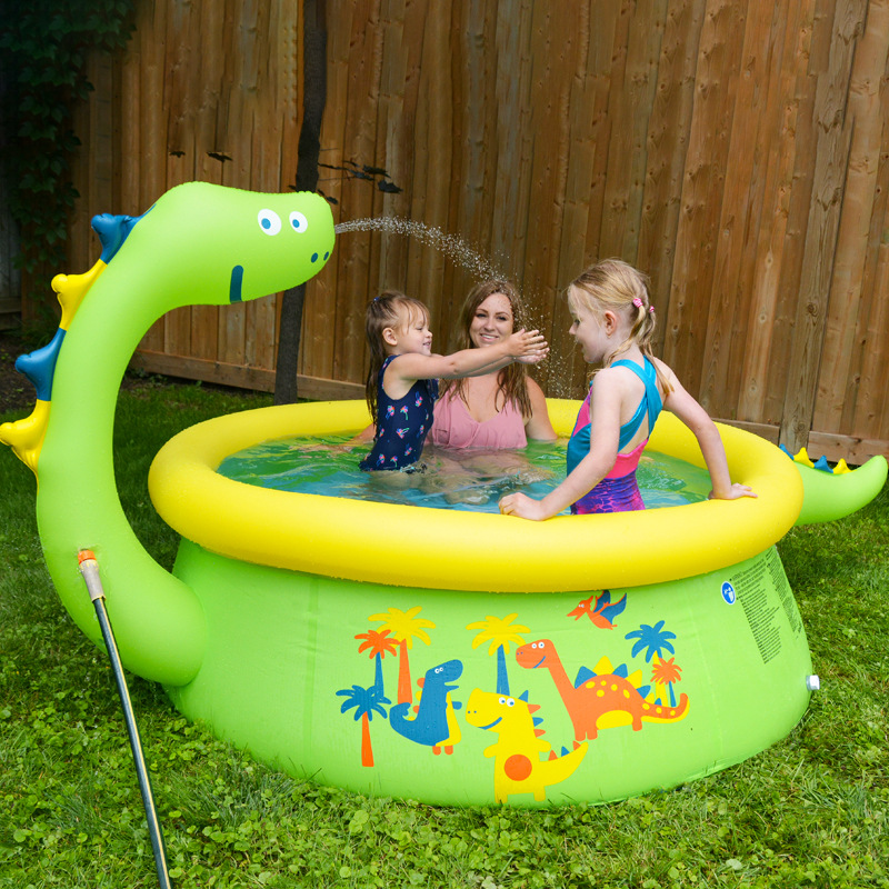 Inflatable Pool Water Play Spray In Summer Water Park Swim Center Family Swimming Pool Ball Pit Outdoor Toys For Children Adults